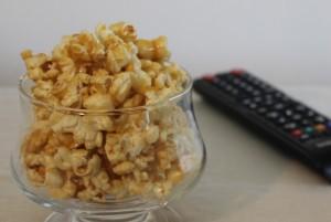 Caramel popcorn ready to enjoy